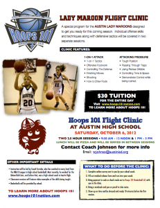 Austin High Lady Maroons Flight Camp #1 @ Austin High School | Austin | Texas | United States